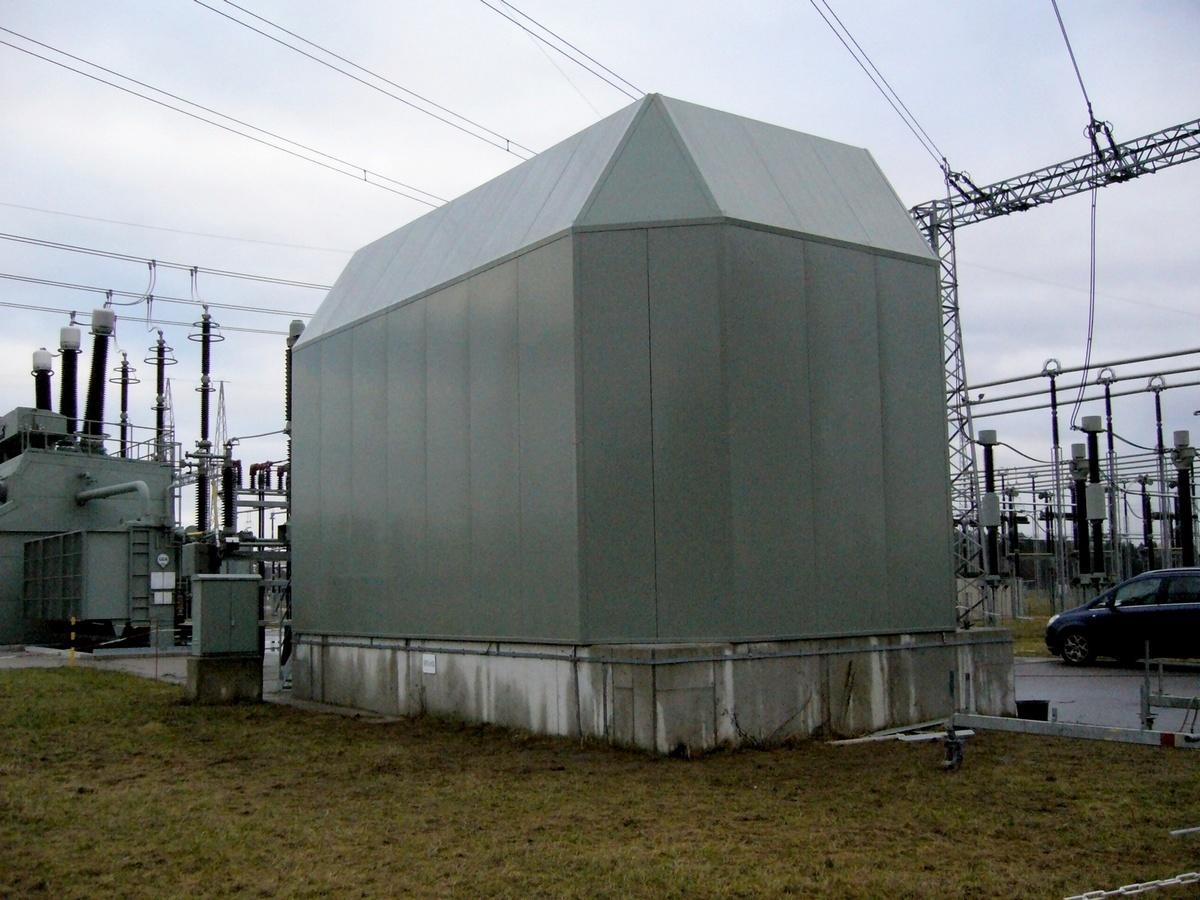 Protihluková stěna transformátoru